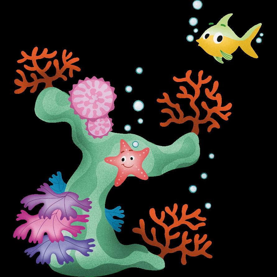 Adesivi murali coralli e stellina leostickers - Stickers cameretta bambino ...